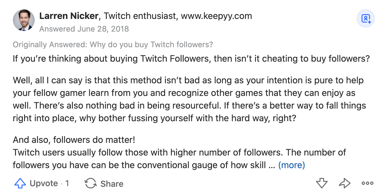 buy twitch streamers